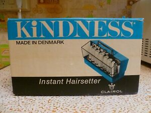 NEW 1967 CLAIROL KINDNESS 14 Instant Hairsetter Hot Hair Rollers Curlers Denmark