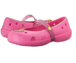 CROCS 202697-6U9 KEELEY DISNEY PRINCESS FLAT K Inf`s (M) Pink Croslite Flat