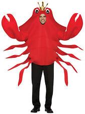 King Red Crab Adult Costume Seafood Beach Halloween Animal Rasta Imposta