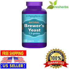 500 TABLETS BREWERS YEAST 500 mg 7.5 GRAIN ENERGY LOWER GLUCOSE SUGAR SUPPLEMENT