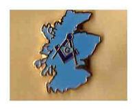 scottish freemason lapel badge masonic masonry craft compass and square