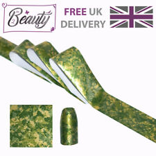Nail Art Transfer Foil Foils Wraps Decals Metallic Green Gold Marble Rainforest