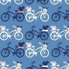Art Gallery In Blue by Katarina Roccella INB 26637 Fietsen Dawn Cotton Fabric