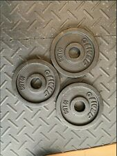 🔥 Pair of Steel Olympic Weight Plates 10lb🔥🔥20lb total🔥🔥Flat Rate Shipping