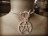 Silver Plated Collar 666 Cyber Snake 666,snake and Moon Choker