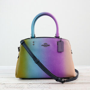 NWT Coach 91055 Crossgrain Leather Mini Lillie Carryall with Ombre *RARE*