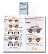 ECHELON FD D356123, 1/35 Decals for 124th Cavalry & 42nd Brigade M1117 ASV Guard