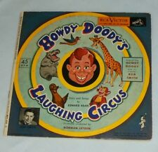 "Howdy Doody Laughing Circus Bob Smith 45 rpm 7"" Yellow Vinyl Record Book WY 414"