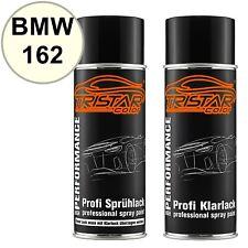 Autolack Spraydosen Set BMW 162 Manilla Basislack Klarlack Sprühdose 400ml