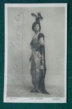 Antique Signed Postcard Russian Actress Lydia Yavorskaia Princess Bariatinsky