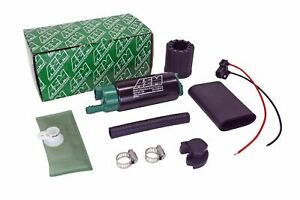 AEM 50-1200 Gas E85 340LPH Fuel Pump & Install Kit for Ford Probe 1993-1997