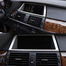 1pcs Steel Inner Dashboard Navigation Frame Cover Trim For BMW X5 E70 2009-2013