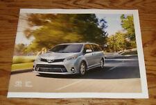 Original 2018 Toyota Sienna Sales Brochure 18 L LE SE XLE Limited