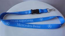 Mercedes-Benz Logo Lanyard Blue Neck Key Ring Keyring ID Holder Phone Strap etc