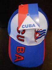Cuba.  Latin   Baseball Cap  - Adjustable Raised CUBA. .  NEW