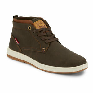 Levi's Mens Goshen II Waxed Synthetic Leather Casual Lace-up Sneaker Boot