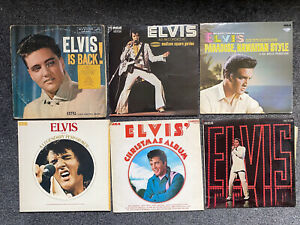 Huge Elvis Presley Vinyl Collection Job Lot 46 LPs Private Collection Rare Early
