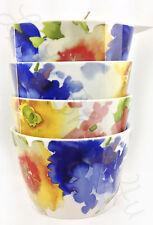 222 Fifth Claudette set of 4 round appetizer bowls dessert watercolor flowers