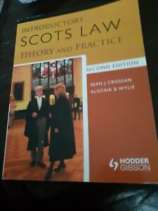 Introductory Scots Law: Theory and Practice by Crossan, Sean J. Paperback Book