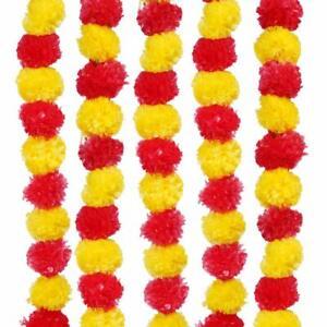 Artificial Marigold, Toran Genda Phool Fluffy Flower Home/Diwali/Navratri Décor