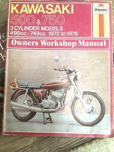 kawasaki haynes manual 500 & 750 3 Cylinder Models 1972-1976