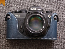 Genuine Leather Half Case for Nikon FM2, FM3A, FE, FE2 Blue - BRAND NEW