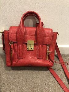 3.1 Phillip Lim Mini Pashli Satchel Bag Red