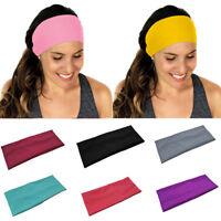 EG_ Men Women Sweat Absorbent Gym Yoga Hair Band Sports Casual Headband Newly