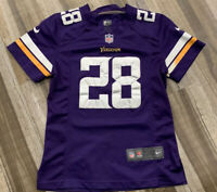 Nike #28 Adrian Peterson Minnesota Vikings On-Field NFL Jersey (Youth Medium)