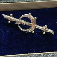 Antique Victorian Silver Scottish Crescent Brooch Antique Pin Chester 1901