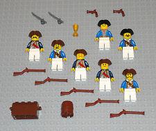 LEGO Minifigures 7 American Revolutionary Soldiers Minutemen Guys Swords Toys