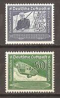 DR Nazi 3rd Reich Rare WW2 WWII Stamp Hitler Air Mail Graff Zeppelin LZ Swastika