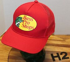 VERY NICE BASS PRO SHOPS RED TRUCKERS HAT SNAPBACK ADJUSTABLE EXCELLENT COND  H2