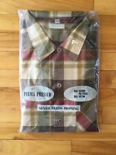Vintage Perma Pressed Long Sleeve Plaid Shirt Men's XL