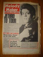 MELODY MAKER 1976 DEC 11 JETHRO TULL LOU REED PUNK