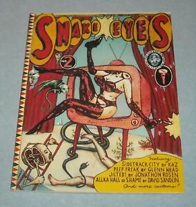 1992 FANTAGRAPHICS BOOKS SNAKE EYES ILLUSTRATED MAGAZINE # 2 WEIRD HUMOR TOONS