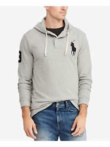 RALPH LAUREN Mens Gray Printed Long Sleeve Crew Neck Button Down Sweater L