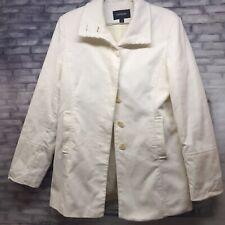 EXPRESS Corduroy Coat Jacket Women's Size 11/12 Off White
