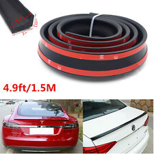 4.9ft/1.5M Universal Car Rear Roof Trunk Spoiler Wing Quick Lip Soft Sticker Kit