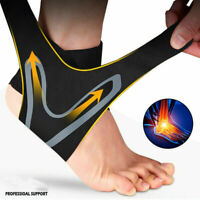 2 Ankle Brace Support Compression Sleeve Plantar Fasciitis Pain Relief Foot Wrap