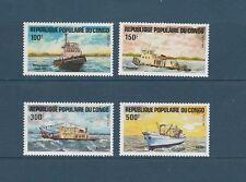 Congo république  bateaux    communication  1984  num: 730/33  **