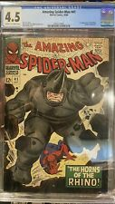 Amazing Spider-Man 41 (Marvel 1966) CGC 4.5, 1st App Rhino! Silver Age Key Issue