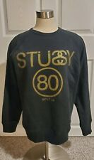 Stussy Men's Long Sleeve Crewneck Pullover Sweater Print Siez Small