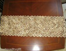 """NEW 100% NATURAL GENUINE BROWN WOOD+BRANCH TABLE RUNNER-60""""x13.5"""""""