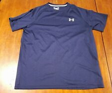 Under Armour Heat Gear Shirt Mens Medium Loose Blue