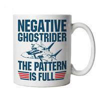 Negative Ghost Rider Top Gun Movie Inspired Cup Gift for Him Dad Her Mum