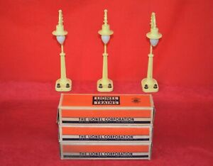 GROUP OF 3 ORIGINAL LIONEL 58 LAMP POSTS IN OBs - NO RESERVE