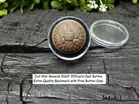 Old Rare Vintage Antique Civil War Relic General Staff Officers Coat Button