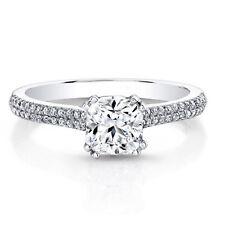 950 Platinum Ring 0.71 Carat Cushion Cut Real Diamond Engagement Ring Size I J K