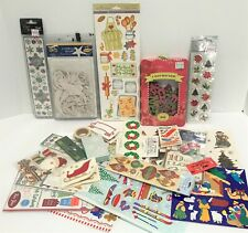 CHRISTMAS Holiday Stickers Washi Die Cuts Scrapbook Embellishment Craft Lot